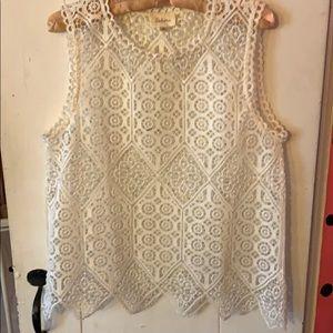 Deletta open weave shirt